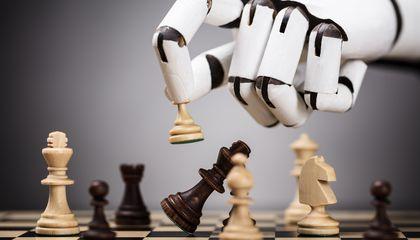 AI plays robot