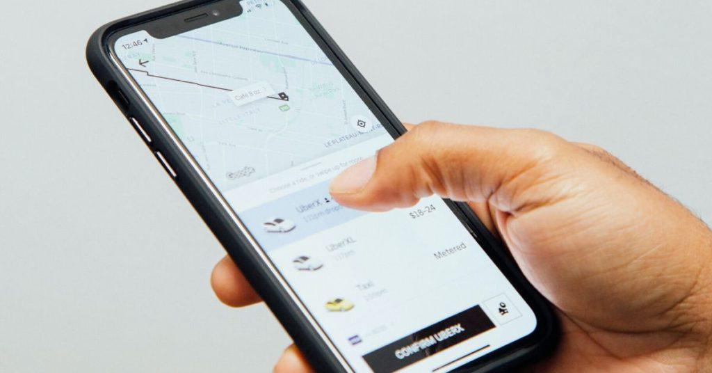 Uber mobile app