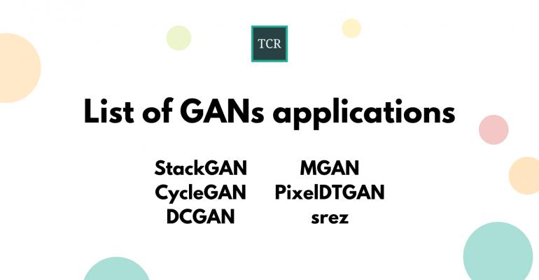 List of Generative Adversarial Networks (GANs) Applications