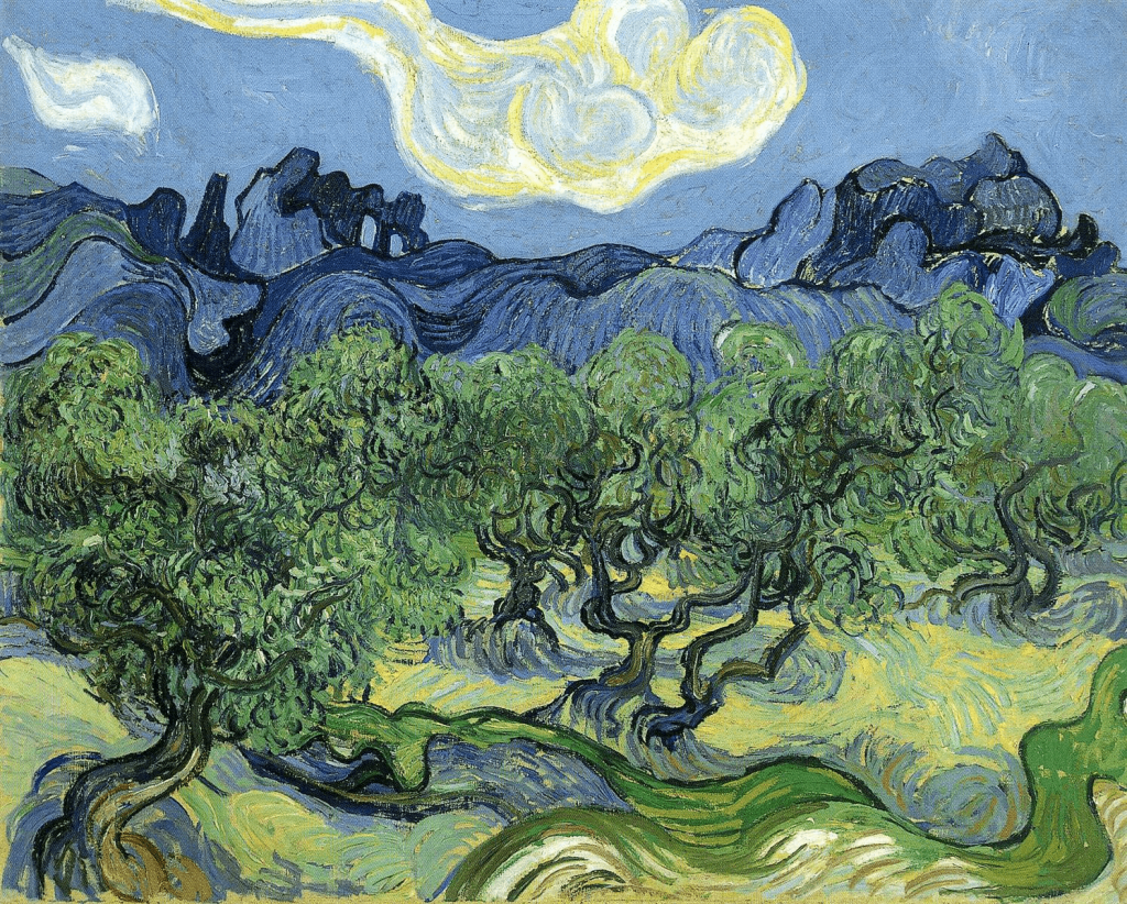 """Van Gogh's """"Olive Trees with the Alpilles in the Background"""""""