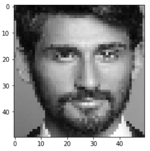 Cropped Grayscale image - Face Mask Detection using Python