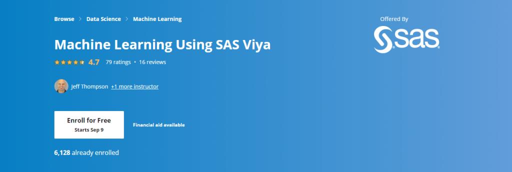 Machine Learning Using SAS Viya