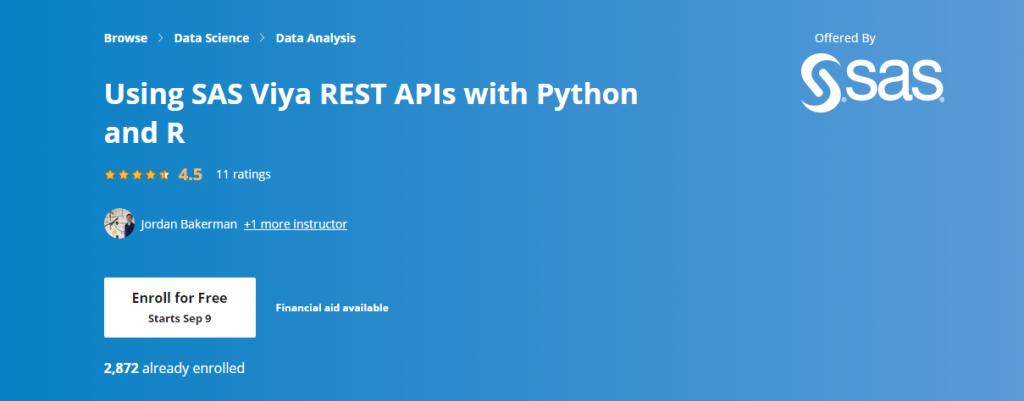Using SAS Viya REST APIs with Python and R