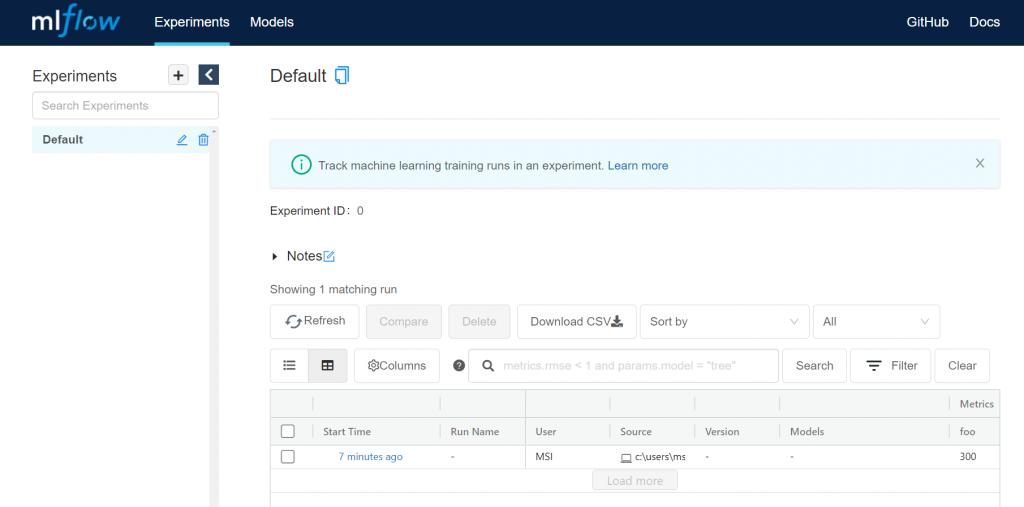 MLflow UI - MLflow for Machine Learning Pipelines [Ultimate Guide]