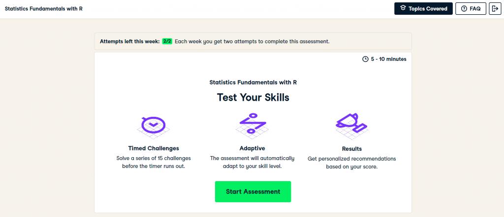 DataCamp Signal Assessment Example (DataCamp Review)