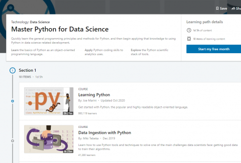 10 Master Python for Data Science Courses by LinkedIn Learning - Perfect for Beginners