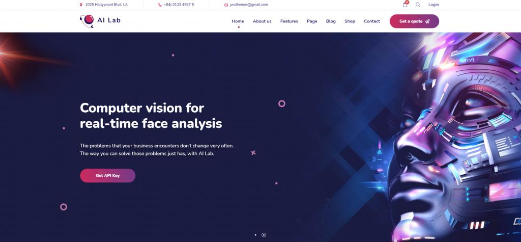 AI Lab - Machine Learning WordPress Theme - 6 Best Artificial Intelligence (AI) WordPress Themes