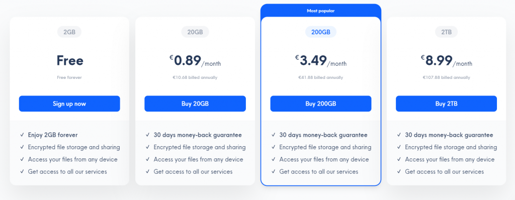 Internxt Drive - Plan and Pricing - Internxt Drive Review - Data Privacy Focused Cloud Storage