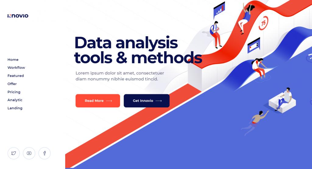 Innovio - Multipurpose Landing Page Theme - 15 Best Data Science WordPress Themes