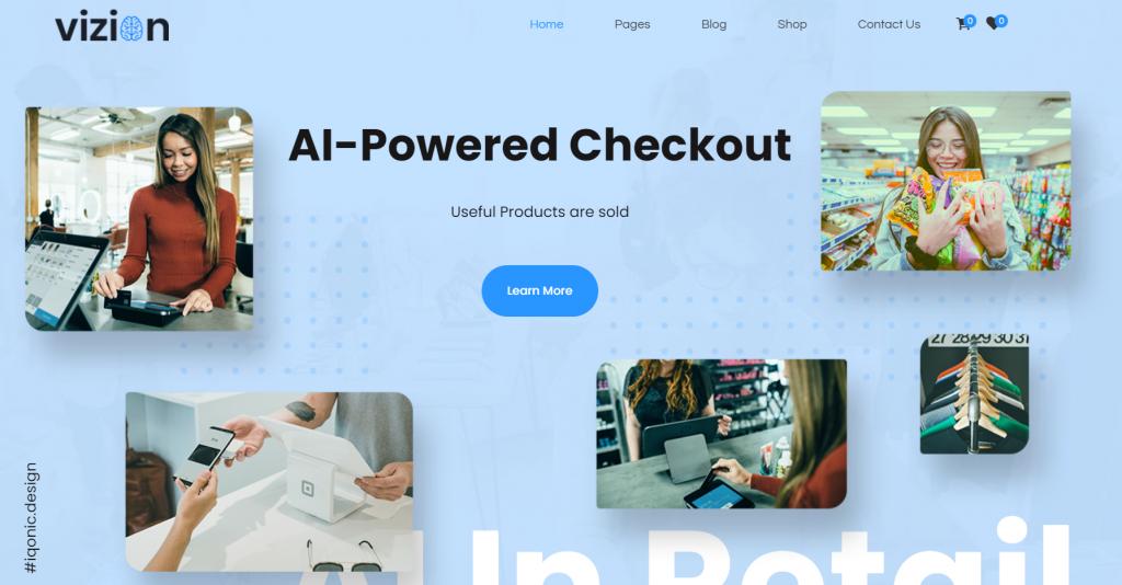 Vizion - AI, Tech & Software Startups WordPress Theme - 6 Best Artificial Intelligence (AI) WordPress Themes