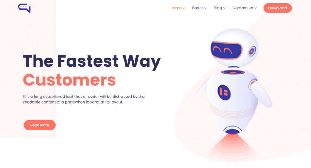 Talkie - Chatbot and Tech Startup WordPress Theme - 6 Best Artificial Intelligence (AI) WordPress Themes